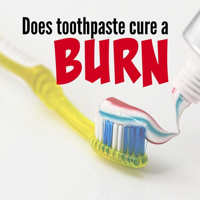 does toothpaste cure a burn